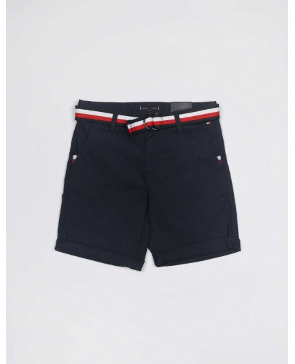 TOMMY JEANS KB0KB055603 ESSENTIAL BELTED CHINO SHORT
